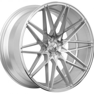 1AV ZX4 Silver Polished Face crossed multi spoke alloy wheel