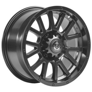 Axe AT1 Satin Black multi spoke Alloy Wheel