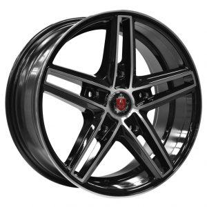 Axe EX14 Transit Black Polished Face 5 spoke alloy wheel
