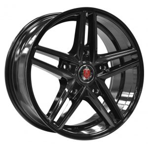 Axe EX14 Transit Gloss Black 5 spoke alloy wheel