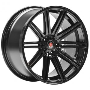Axe EX15 Gloss Black 10 spoke alloy wheel