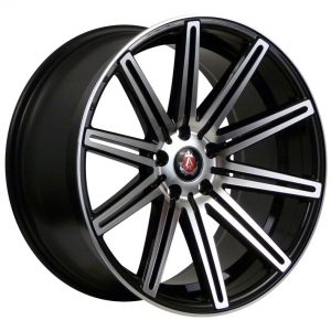 Axe EX15 Gloss Black Polished Face 10 spoke alloy wheel