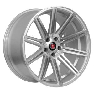 Axe EX15 Silver Polished Face 10 spoke alloy wheel