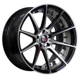 Axe EX16 Black Polished Face and Barrel 10 spoke alloy wheel