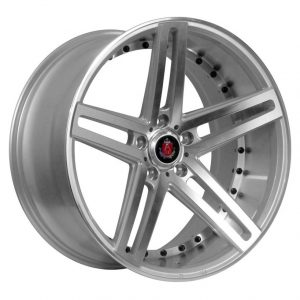 Axe EX20 Silver Polished Face and Barrel alloy wheel