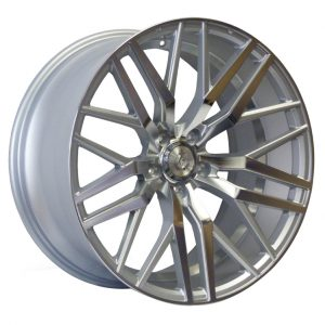 Axe EX30 Silver Polished Face and Barrel multi spoke alloy wheel
