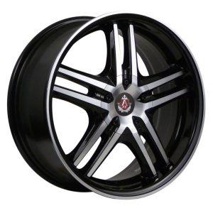 Axe EX5 black polished face lip wheel