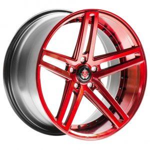 Axe Ex20 Candy Red 5 spoke alloy wheel