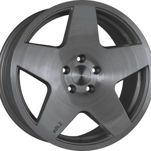 1Form Edition 2 Brushed Graphite Edition.2 EDT.2 split Y spoke alloy wheel