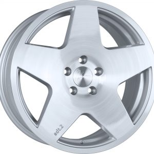 1Form Edition 2 Brushed Pure Silver Edition.2 EDT.2 5 spoke alloy wheel
