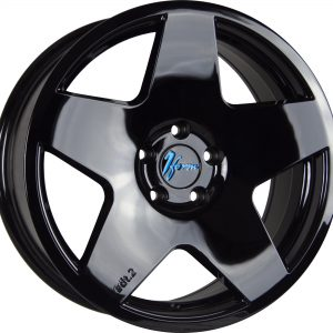 1Form Edition 2 Liquid Black Blue Logo Cap Edition.2 EDT.2 5 spoke alloy wheel
