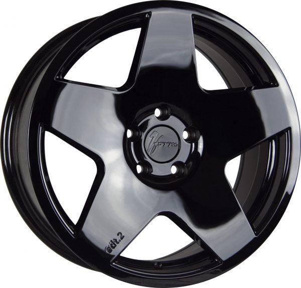 1Form Edition 2 Liquid Black Edition.2 EDT.2 5 spoke alloy wheel