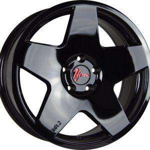 1Form Edition 2 Liquid Black Red Logo Cap Edition.2 EDT.2 5 spoke alloy wheel