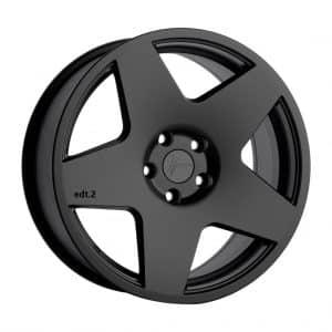 1Form Edition.2 Transit Matt Black with Black Logo Cap 1024 alloy wheel
