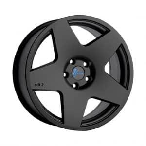 1Form Edition.2 Transit Matt Black with Blue Logo Cap 1024 alloy wheel