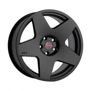 1Form Edition.2 Transit Matt Black with Red Logo Cap 1024 alloy wheel