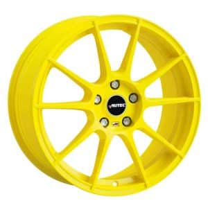 Autec Wizard Atomic Yellow Type W 10 spoke alloy wheel