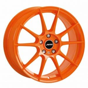 Autec Wizard Racing Orange Type W 10 spoke alloy wheel