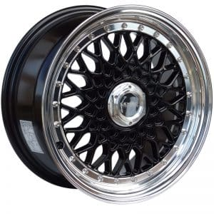 Lenso BSX Black polished lip alloy wheel