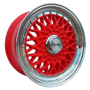 Lenso BSX Red classic mesh alloy wheel