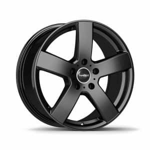 Supermetal Bolt Matt Black 5 spoke alloy wheel 1