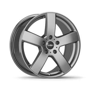 Supermetal Bolt Matt Grey 5 spoke alloy wheel 1