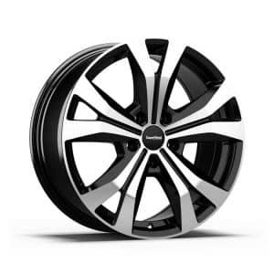 Supermetal Bullet Gloss Black Polished Face Y spoke 5 spoke alloy wheel 1