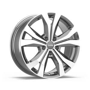 Supermetal Bullet Gloss Grey Polished Face Y spoke 5 spoke alloy wheel 1