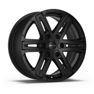 Supermetal Compass Matt Black 1 alloy wheel