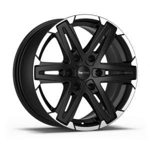 Supermetal Compass Matt Black Polished Face 1 alloy wheel