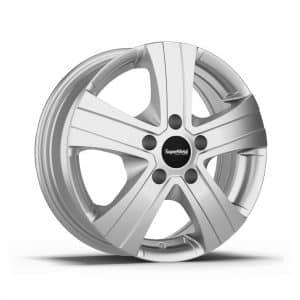 Supermetal Hammer ECE Silver 15 inch 5 spoke alloy wheel 1