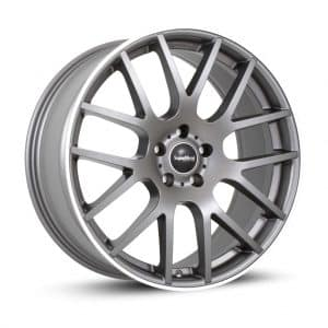 Supermetal Trident Matt Grey Polished Rim Y spoke alloy wheel 1