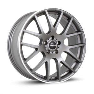 Supermetal Trident Matt Grey Polished Rim 1 alloy wheel