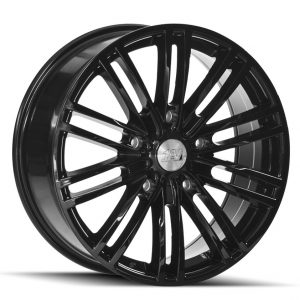 1AV Transit Gloss Black multi spoke alloy wheel