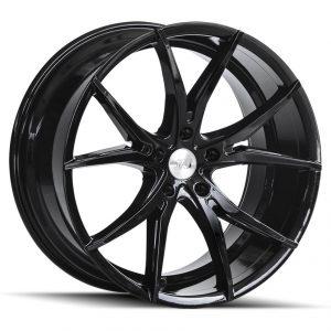 1AV ZX5 Gloss Black 10 spoke Y spoke alloy wheel