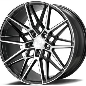 Axe CF1 Gloss Black Polished Face 1 multi spoke alloy wheel