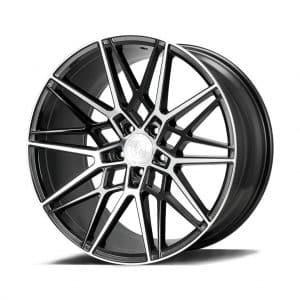Axe CF1 Gloss Black Polished Face angle 1 alloy wheel