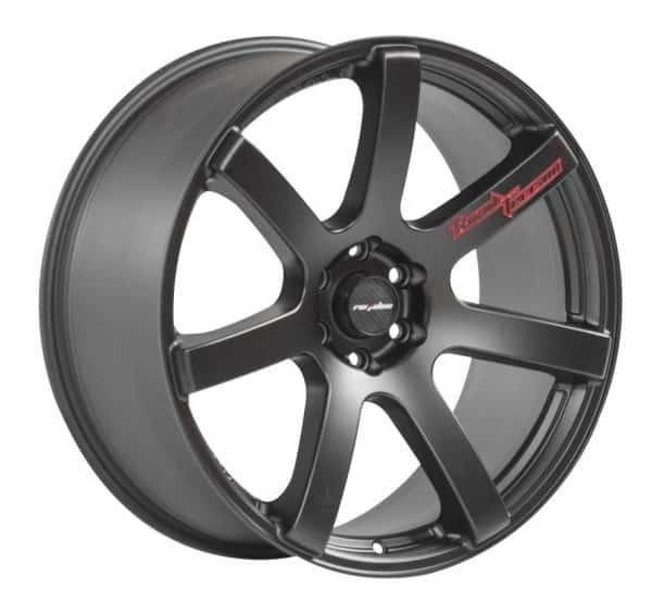 Lenso RTC Matt Black 7 spoke alloy wheel