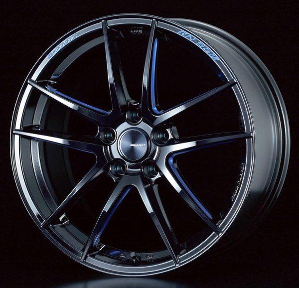 Weds Sport RN55M Black Blue Machine Face F lightweight alloy wheel
