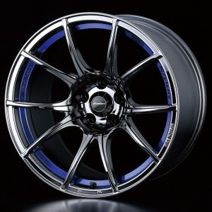 Weds Sport SA10R Blue Light Chrome 18x10.5 lightweight alloy wheel