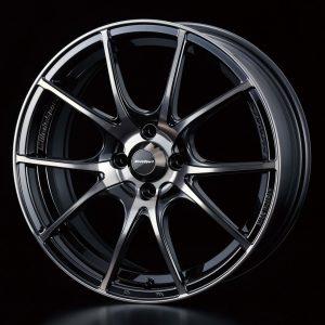 Weds Sport SA10R Zebra Black Bright 17x7 lightweight alloy wheel