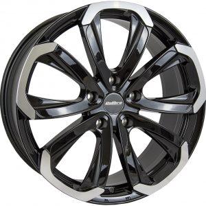 Calibre Havana Black Polished Face 900 10 spoke multi spoke alloy wheel