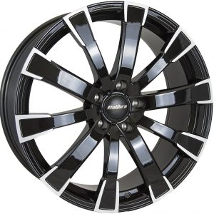 Calibre Manhattan Black Polished Face 900 10 spoke multi spoke alloy wheel