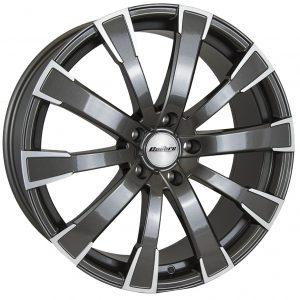 Calibre Manhattan Gunmetal Polished Face 900 10 spoke multi spoke alloy wheel