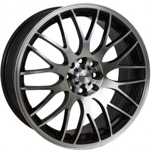 Calibre Motion Black Polished Face 900 multi spoke y spoke alloy wheel