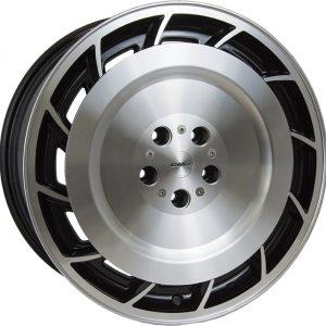 Calibre Turbine 1 Black Polished Face 900 flat face rotary style alloy wheel