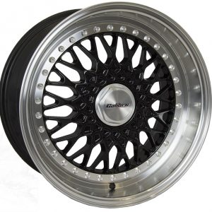 Calibre Vintage Black Polished Lip 900 Y spoke mesh alloy wheel