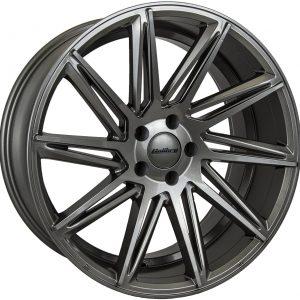 Calibre CCA Gunmetal Polished 900 twin spoke 10 spoke alloy wheel