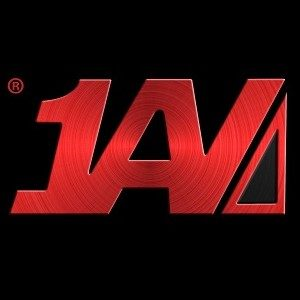 1AV Logo Red on Black 300