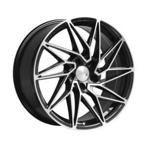 1AV ZX10 Black Polished Face 1024 alloy wheel